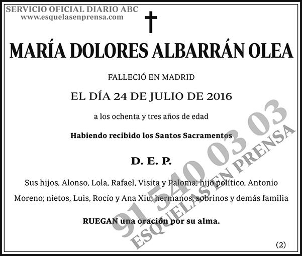 María Dolores Albarrán Olea